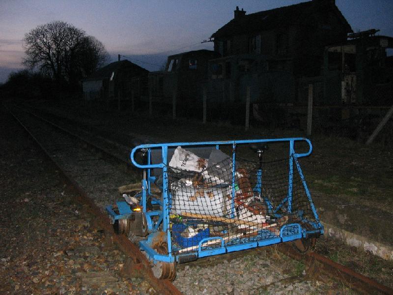 Un vélorail benne-à-ordures
