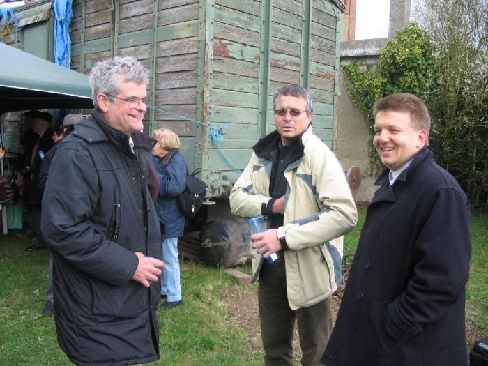 MM. Mionnet, Normand, Harel (g à d.)