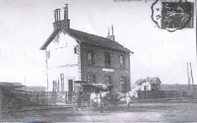 La gare vers 1900
